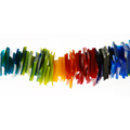 "Acrylic Chip Rainbow for ""The New Acrylics"" by Rheni Tauchid"