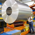 Roll of sheet aluminum at Novelis