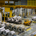 Rolls of sheet aluminum at Novelis, Kingston