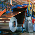 Spooling sheet aluminum at Novelis Kingston