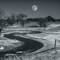 WInter Moon in Lansdowne