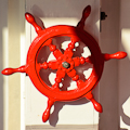 Red Ship's Wheel